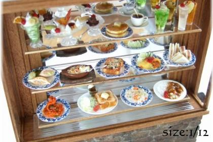 ミニチュア レトロ 喫茶店 ショーケース