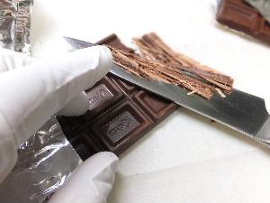 食べれるミニチュアチョコ制作過程