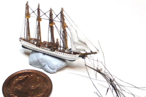 ミニチュア ボトルシップ 帆船模型 shipinabottle