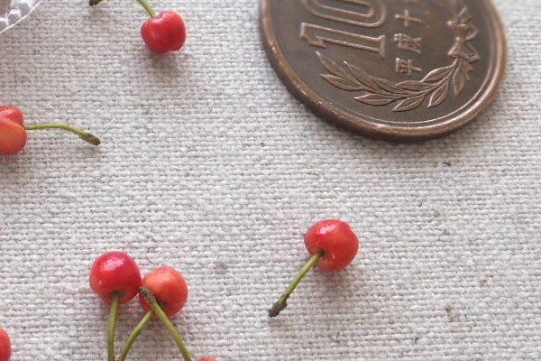 ミニチュア フルーツ 樹脂粘土 さくらんぼ サクランボ