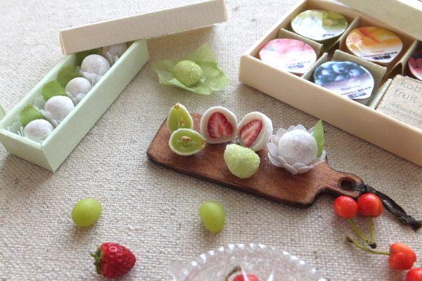 ミニチュア フルーツ マスカット イチゴ