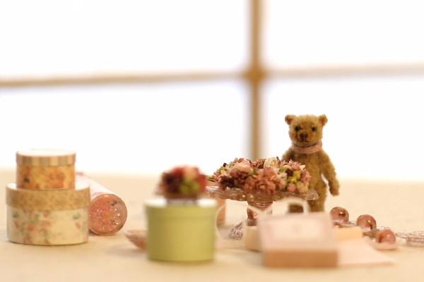 teddybear テディベア モール 羊毛フェルト グラスアイ