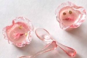 ミニチュア 食品サンプル 桜プリン レジン ミニチュアフード
