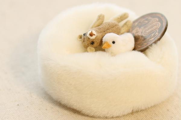 ミニチュア テディベア アヒル クッション teddybear