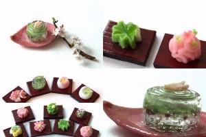 春 桜 和菓子 ショーケース ジオラマ