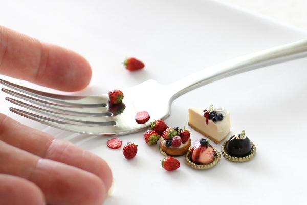 berry miniature ミニチュアフード イチゴ 断面