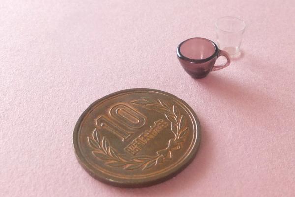 ミニチュア 食器 ネコ 猫 プレート グラス
