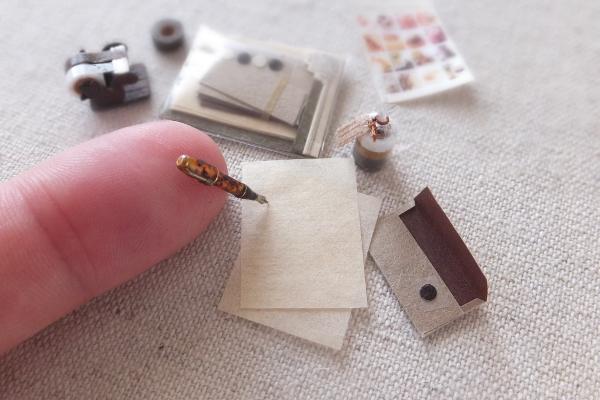 ミニチュア 万年筆 文具 miniature fountainpen
