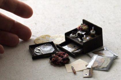 ミニチュア純銀製 スプーン 万年筆 レターケース