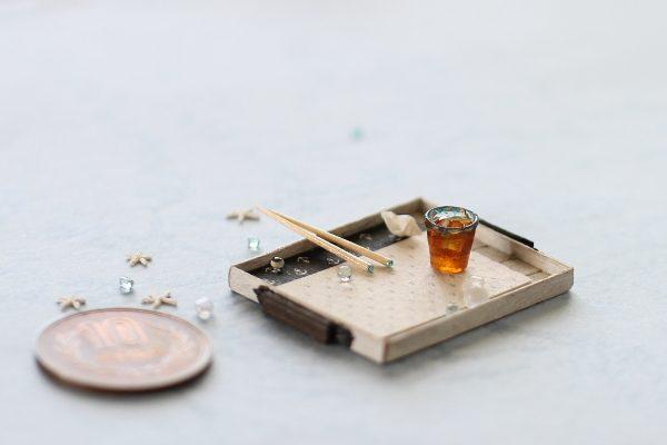 ミニチュア トレー お箸 グラス お茶