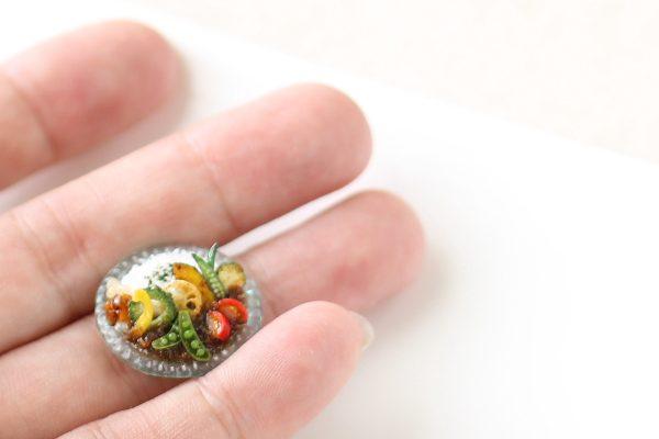 ミニチュア 夏野菜カレー