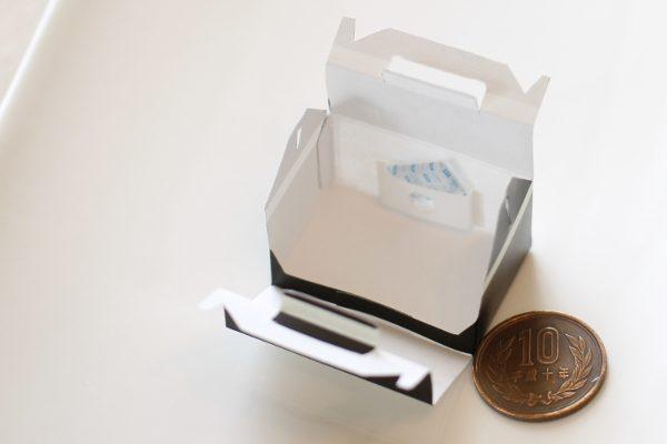 ミニチュア 前開き ケーキ ボックス 箱 保冷剤