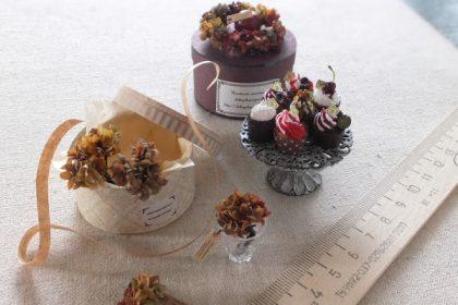 wreath ミニチュア アジサイリース カップケーキ