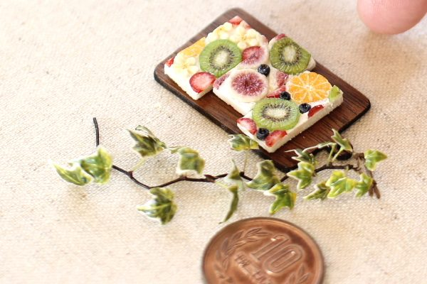 fruit ミニチュア フルーツ オープンサンド