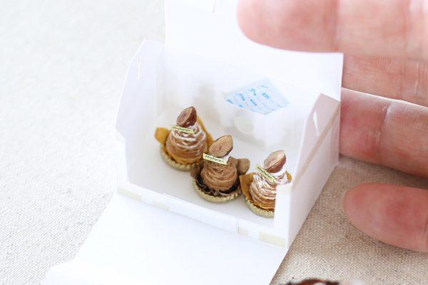 marron ミニチュア ケーキ 渋皮モンブラン 保冷剤