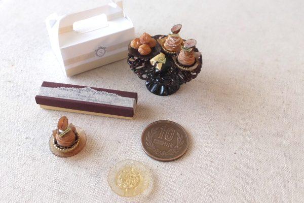 marron ミニチュア ケーキ 渋皮モンブラン