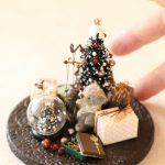 christmas teddybear ミニチュア テディベア クリスマス