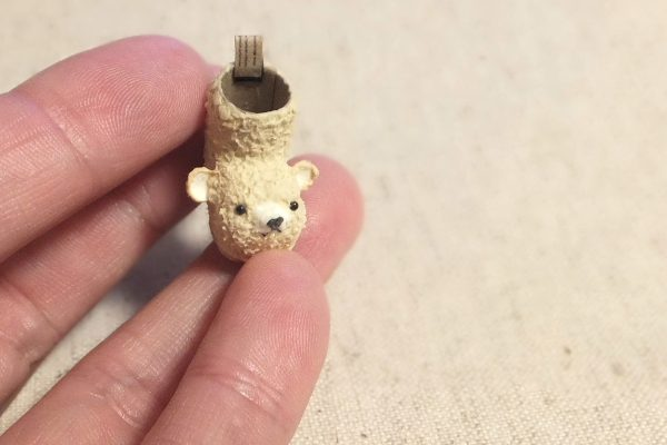 bear ミニチュア クリスマスブーツ