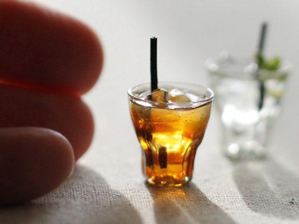 glass ミニチュア ミント水 ウーロン茶