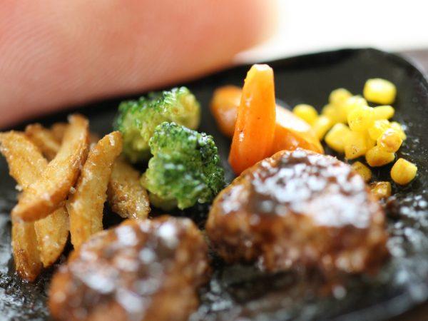 lunch ミニチュア ランチ ハンバーグセット