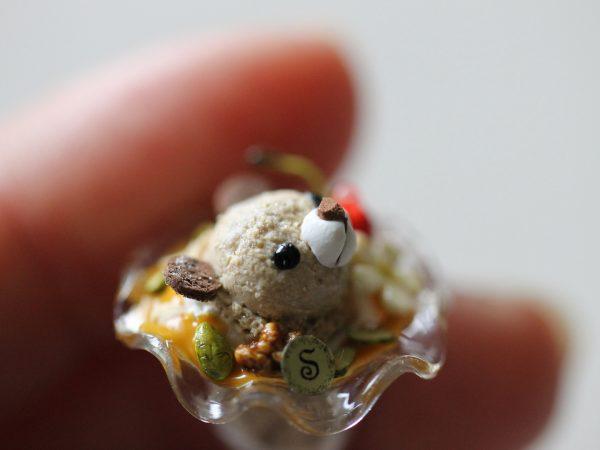 ミニチュア パフェ クマ 文鳥