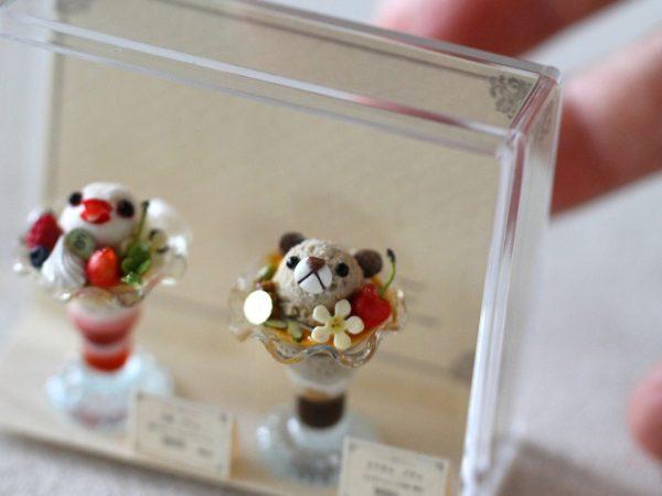 ミニチュア 食品サンプル クマ 文鳥