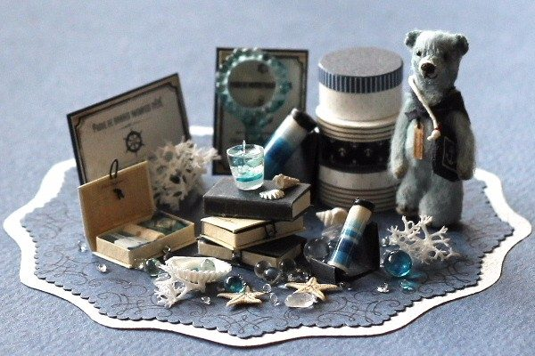 marine teddybear テディベア ミニチュア 万華鏡