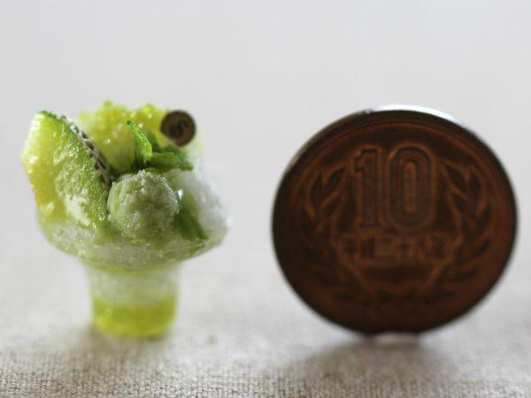 ミニチュア かき氷 メロン