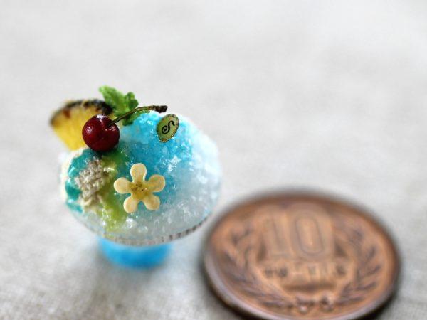 ミニチュア かき氷 フルーツ 花火