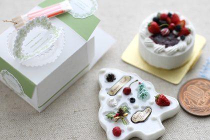 ミニチュア ケーキ クリスマス バースデー