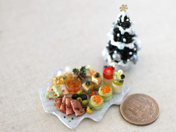 xmas ミニチュアフード クリスマス オードブル