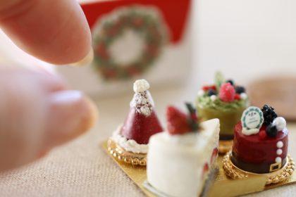 x'mas ミニチュア クリスマスケーキ フェイクスイーツ