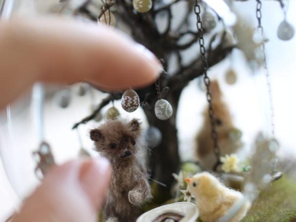 ミニチュア テディベア イースター miniature Teddy bear