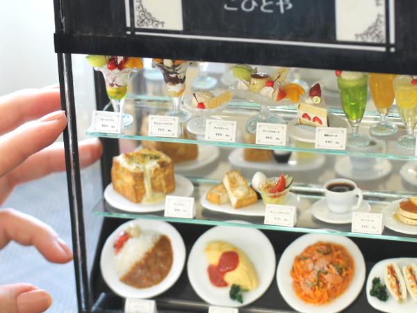 ミニチュア レトロ喫茶店 ショーケース 食品サンプル