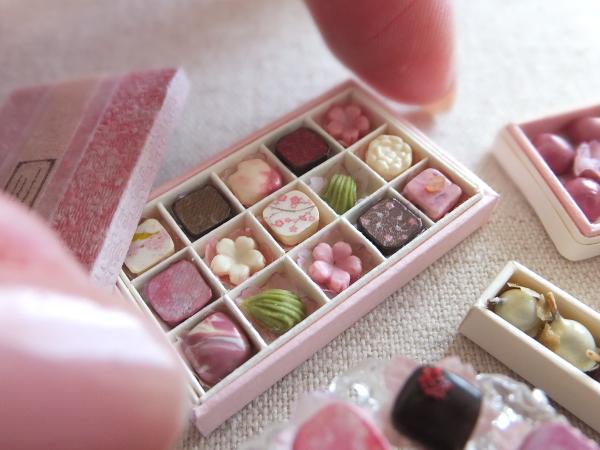 ミニチュア 桜 チョコレート