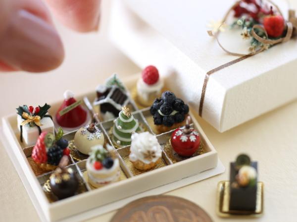 ミニチュア クリスマスケーキ
