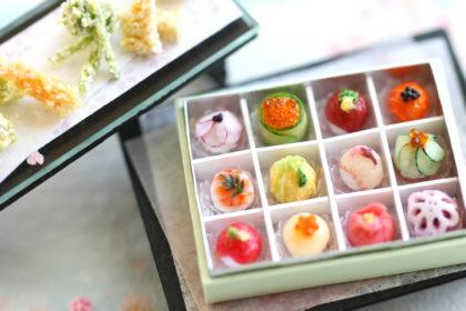 ミニチュア 天ぷら 手まり寿司 食品サンプル