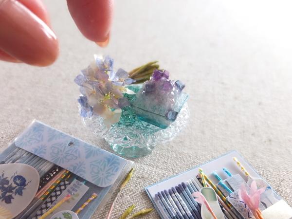 ミニチュア 花火 紫陽花 あじさい かき氷