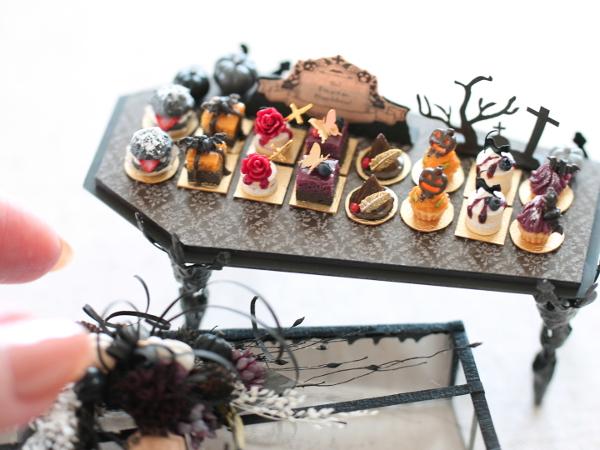 ミニチュア halloween ハロウィン ショーケース プティケーキ