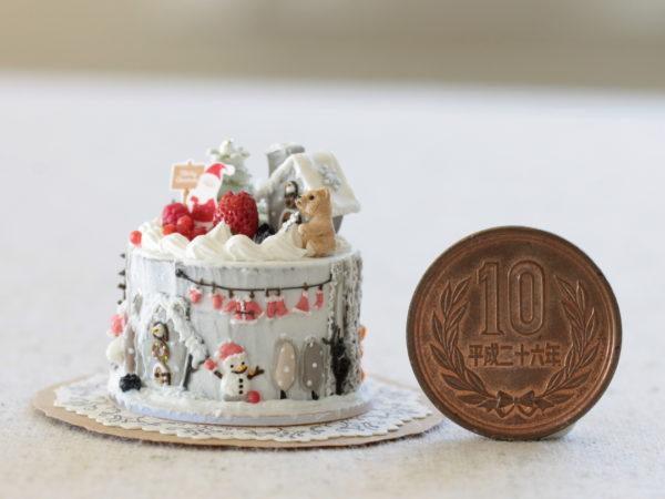 ミニチュア クリスマスケーキ ヘクセンハウス クリスマス