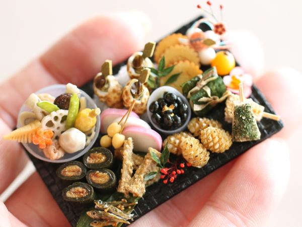ミニチュア おせち handmade miniature