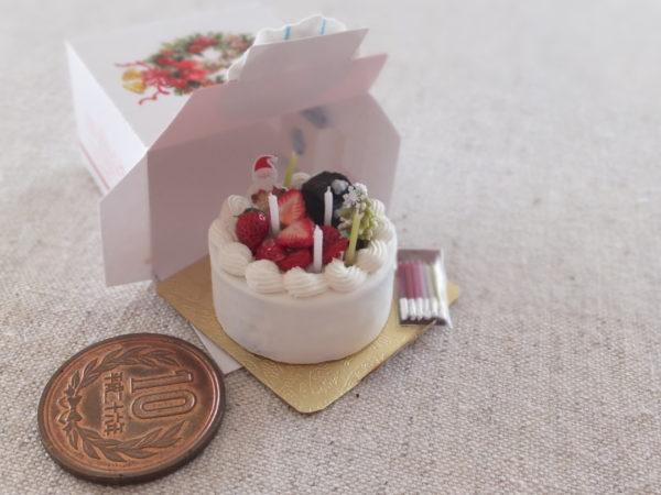 2、クリスマスケーキ  (保冷剤、キャンドル付き)