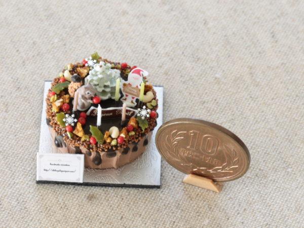 ミニチュア クリスマスケーキ リス