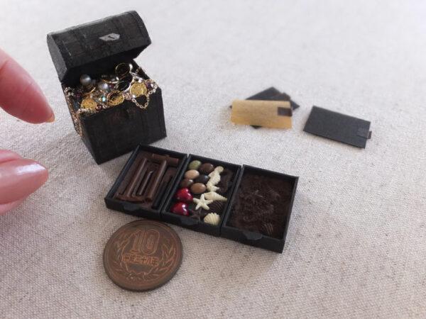 ミニチュア 宝箱 fossil treasure miniature 化石
