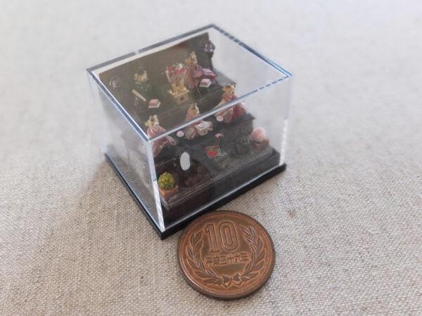 ミニチュア テディベア 雛人形 miniature teddybear