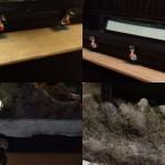 岩 水 ジオラマ 粘土 レジン カウンター