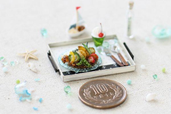 ミニチュア マリン 夏野菜カレー