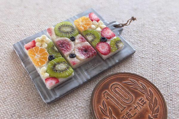 fruit ミニチュアフード フルーツオープンサンド