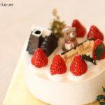 xmascake クリスマスケーキ 生クリーム イチゴ クマサンタ