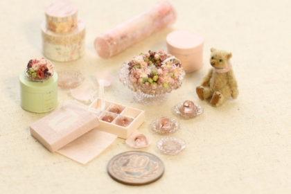 teddybear ミニチュア 桜 万華鏡